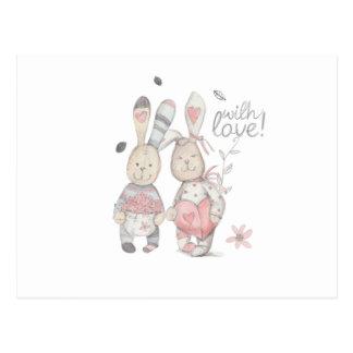Cartão Postal casal banny 2 do coelho