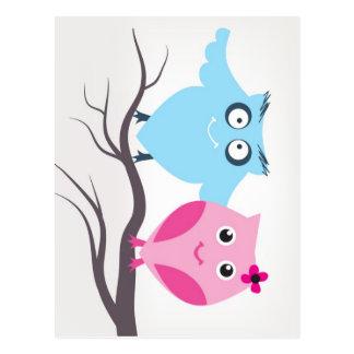 Cartão Postal Casal bonito dos pássaros no amor