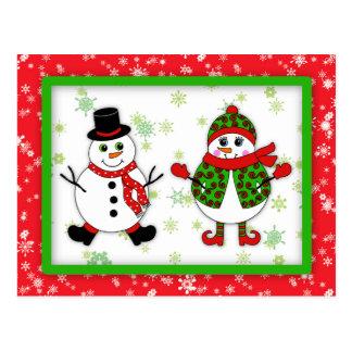 Cartão Postal Casal da neve