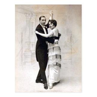 Cartão Postal Casal do vaudeville do vintage de Magley da pérola