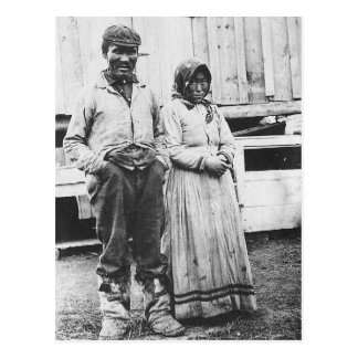 Cartão Postal casal eskimo