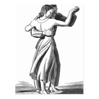 Cartão Postal Casal lento da dança