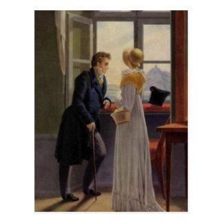 Cartão Postal Casal na janela