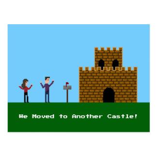 Cartão Postal casal que do pixel 8bit nós nos movemos para um