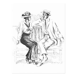 Cartão Postal Casal romântico