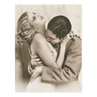 Cartão Postal Casal romântico do vintage