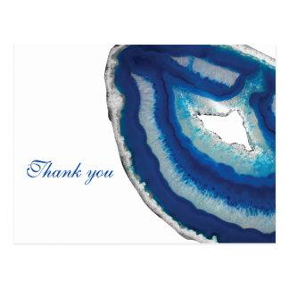 Cartão Postal Casamento azul da ágata