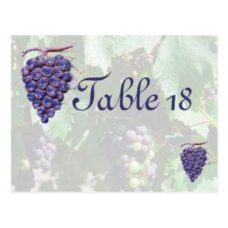 Cartão Postal Casamento da região vinícola do número da mesa