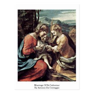 Cartão Postal Casamento de St.Catherine por Antonio a Dinamarca