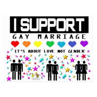 Cartão Postal Casamento do apoio