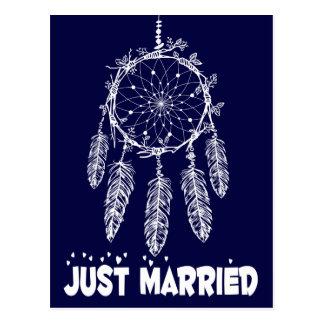Cartão Postal Casamento do coletor do sonho do recem casados dos