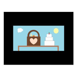 Cartão Postal Casamento do piquenique