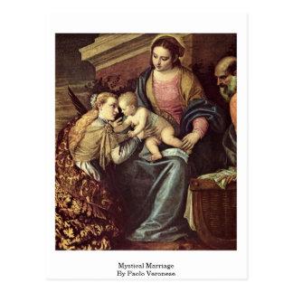 Cartão Postal Casamento Mystical por Paolo Veronese