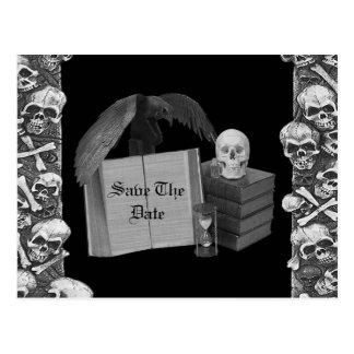 Cartão Postal Casamento romance preto & branco de Spellbook do