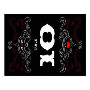 Cartão Postal Casamento temático da música vermelha   preta do 79e566a5593