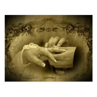 Cartão Postal Casamento vintage… Com este anel mim thee