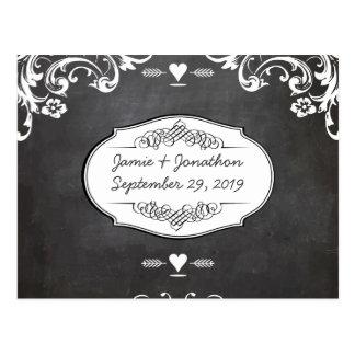 Cartão Postal Casamentos da tipografia do quadro