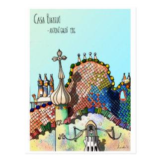 Cartão Postal Casas Batlló
