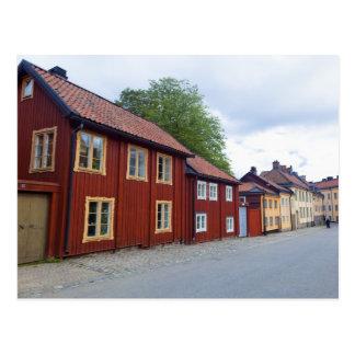 Cartão Postal Casas coloridas, Lotsgatan, Södermalm, Éstocolmo