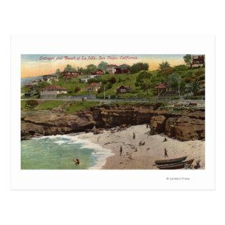 Cartão Postal Casas de campo e praia em La Jolla