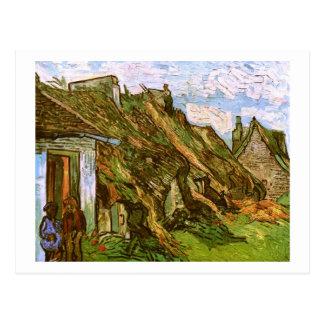 Cartão Postal Casas de campo Thatched do arenito, belas artes de