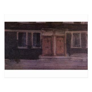 Cartão Postal Casas de Chelsea pelo assobiador de James McNeill