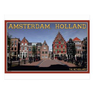 Cartão Postal Casas do canal de Amsterdão