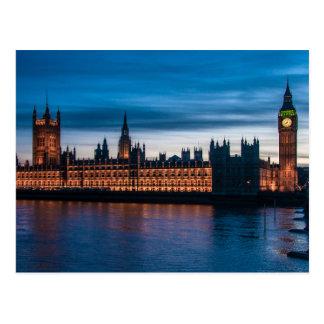 Cartão Postal Casas do parlamento & de Big Ben, Londres,