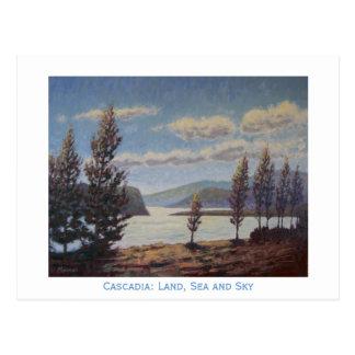 Cartão Postal Cascadia: Terra, mar e céu