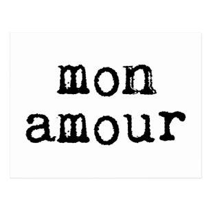 Cartão Postal Caso amoroso dactilografado de segunda-feira