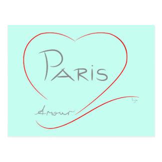 Cartão Postal Caso amoroso de PARIS (coração)