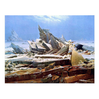 Cartão Postal CASPAR DAVID FRIEDRICH - o mar do gelo 1824