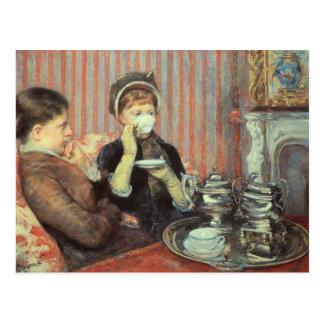 Cartão Postal Cassatt: Chá de cinco horas,