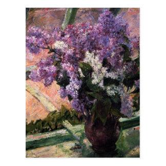 Cartão Postal Cassatt: Lilacs em uma janela