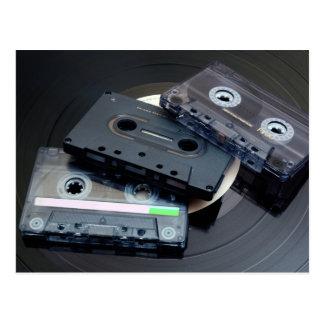 Cartão Postal Cassetes de banda magnética retros