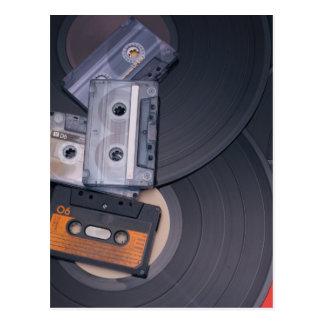 Cartão Postal cassetes de banda magnética retros do anos 80 e