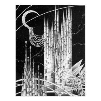 Cartão Postal Castelo crescente da lua