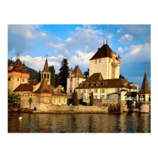 Cartão Postal Castelo da beira do lago