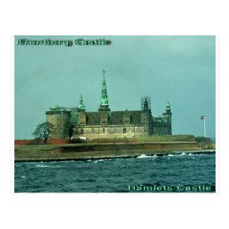 Cartão Postal Castelo das aldeolas do castelo de Kronborgs em