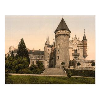 Cartão Postal Castelo de Busset, perto de Vichy, France