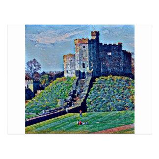 Cartão Postal Castelo de Cardiff