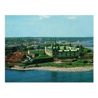 Cartão Postal Castelo de Dinamarca Helsingor Kronburg do vintage