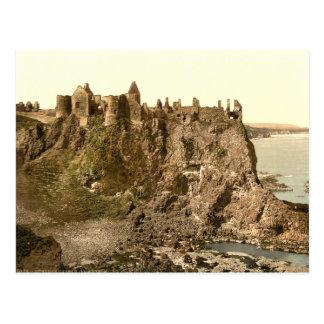 Cartão Postal Castelo de Dunluce, condado Antrim