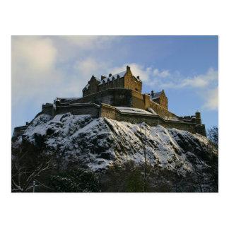 Cartão Postal Castelo de Edimburgo coberto na neve