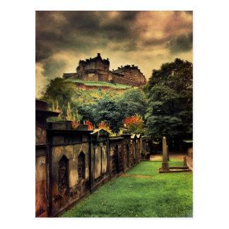 Cartão Postal Castelo de Edimburgo - estilo antigo