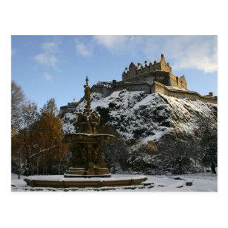 Cartão Postal Castelo de Edimburgo no inverno