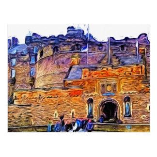 Cartão Postal Castelo de Edimburgo, Scotland.