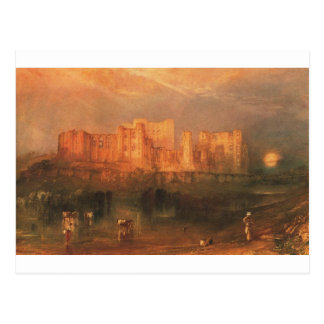 Cartão Postal Castelo de Kenilworth por William Turner