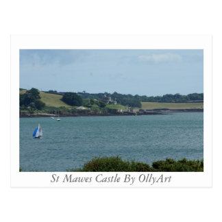 Cartão Postal Castelo de Mawes da rua pela fotografia de OllyArt