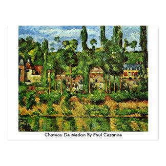 Cartão Postal Castelo De Medan por Paul Cezanne